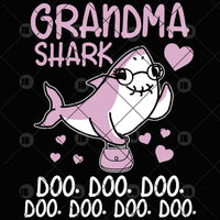 Grandma Shark Doo-Doo-Doo Digital Cut Files Svg, Dxf, Eps, Png, Cricut Vector, Digital Cut Files Download