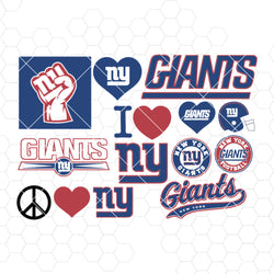 New York Giants SVG, New York Giants files, giants logo, football, silhouette cameo, cricut, cut files, digital clipart, layers, png dxf ai