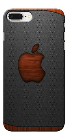 Digiprints Wooden Aplle Logo Designe Printed Designer Back Case Cover For Apple iPhone 8 Plus