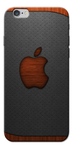 Digiprints Wooden Aplle Logo Designe Printed Designer Back Case Cover For Apple iPhone 6