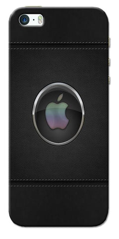 Digiprints Colorful Dots Apple Logo Printed Designer Back Case Cover For Apple iPhone 5