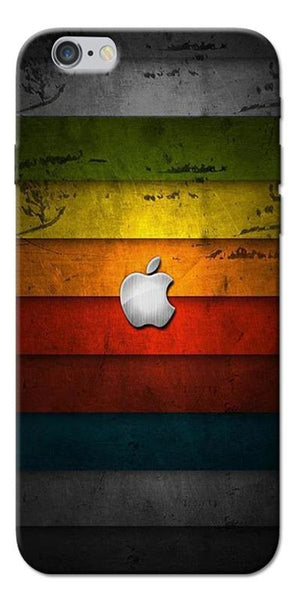 Digiprints Colorful Wooden Apple Logo Printed Designer Back Case Cover For Apple iPhone 6