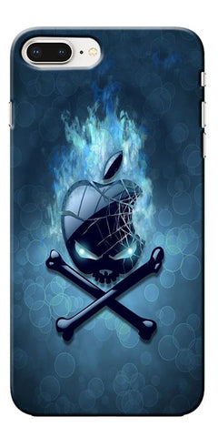 Digiprints Apple Skull Logo Printed Designer Back Case Cover For Apple iPhone 8 Plus