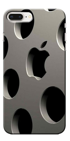 Digiprints 3D Apple Logo Designe Printed Designer Back Case Cover For Apple iPhone 8 Plus