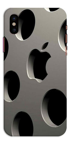 Digiprints 3D Apple Logo Designe Printed Designer Back Case Cover For Apple iPhone X