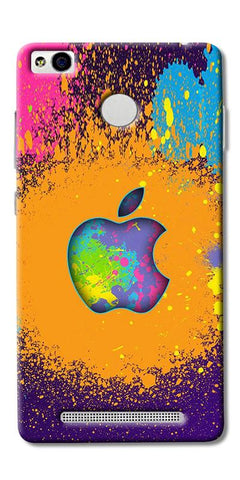 Digiprints Metal Apple Logo Printed Designer Back Case Cover For Xiaomi Redmi 3S Prime