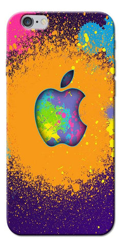 Digiprints Metal Apple Logo Printed Designer Back Case Cover For Apple iPhone 6