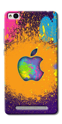 Digiprints Metal Apple Logo Printed Designer Back Case Cover For Xiaomi Redmi 3S