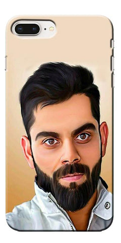 Digiprints Virat Kholi Art Printed Designer Back Case Cover For Apple iPhone 8 Plus