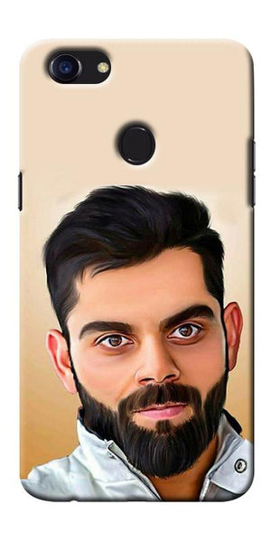 Digiprints Virat Kholi Art Printed Designer Back Case Cover For Oppo F5