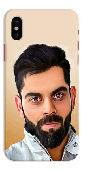 Digiprints Virat Kholi Art Printed Designer Back Case Cover For Apple iPhone X