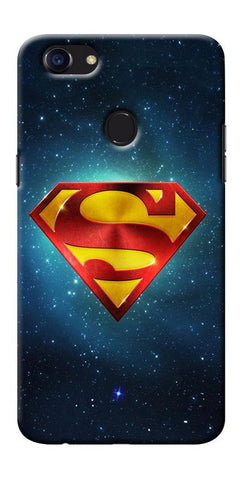 Digiprints Superman Designe Art Printed Designer Back Case Cover For Oppo F5