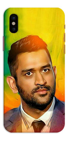 Digiprints Ms Dhoni Fan Printed Designer Back Case Cover For Apple iPhone X