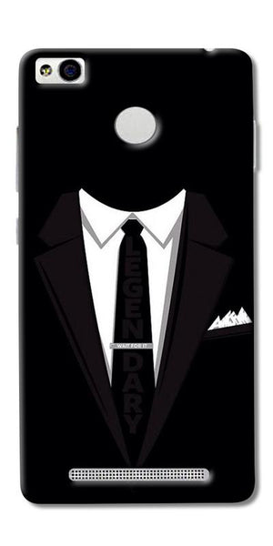 Digiprints Suit Up Black Printed Designer Back Case Cover For Xiaomi Redmi 3S Prime
