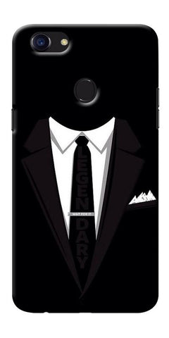 Digiprints Suit Up Black Printed Designer Back Case Cover For Oppo F5