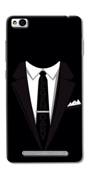 Digiprints Suit Up Black Printed Designer Back Case Cover For Xiaomi Redmi 3S