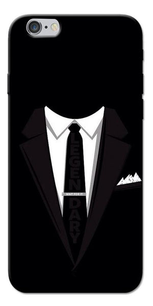 Digiprints Suit Up Black Printed Designer Back Case Cover For Apple iPhone 6