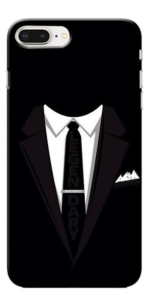 Digiprints Suit Up Black Printed Designer Back Case Cover For Apple iPhone 8 Plus