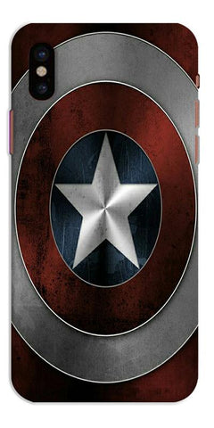 Digiprints Captain America's Shield Printed Designer Back Case Cover For Apple iPhone X