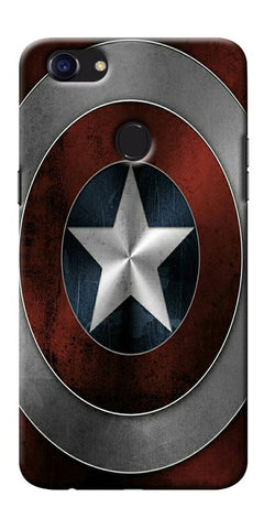 Digiprints Captain America's Shield Printed Designer Back Case Cover For Oppo F5