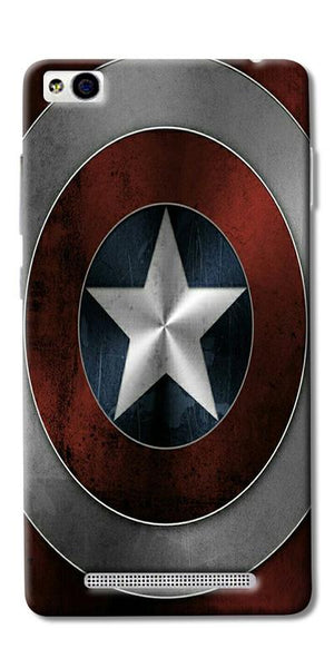 Digiprints Captain America's Shield Printed Designer Back Case Cover For Xiaomi Redmi 3S