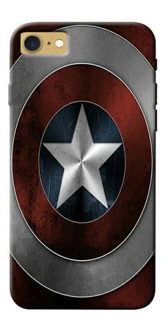 Digiprints Captain America's Shield Printed Designer Back Case Cover For Apple iPhone 7