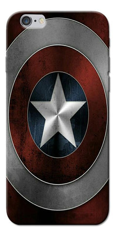 Digiprints Captain America's Shield Printed Designer Back Case Cover For Apple iPhone 6