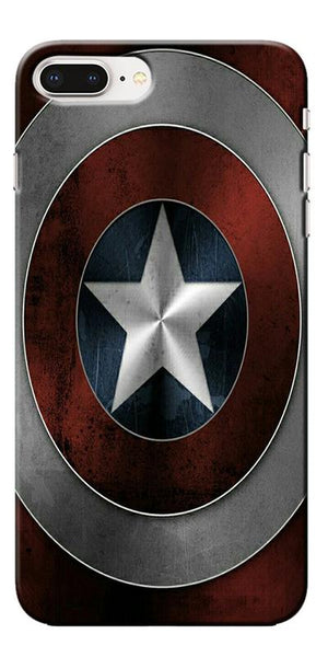 Digiprints Captain America's Shield Printed Designer Back Case Cover For Apple iPhone 8 Plus