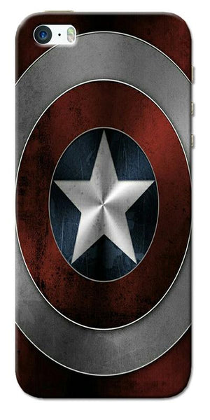 Digiprints Captain America's Shield Printed Designer Back Case Cover For Apple iPhone 5