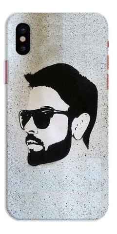 Digiprints Virat Kohli Face Art Printed Designer Back Case Cover For Apple iPhone X