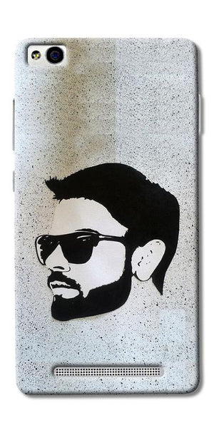 Digiprints Virat Kohli Face Art Printed Designer Back Case Cover For Xiaomi Redmi 3S