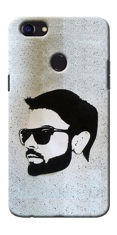 Digiprints Virat Kohli Face Art Printed Designer Back Case Cover For Oppo F5
