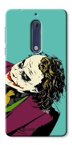 Digiprints Joker So Serious Art Print Printed Designer Back Case Cover For Nokia 5