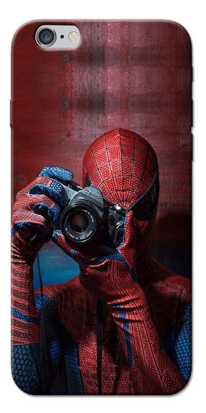 Digiprints Spider-Man a Good Photographer Designe Printed Designer Back Case Cover For Apple iPhone 6