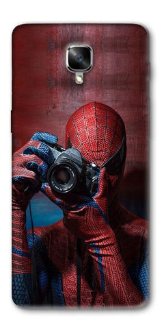 Digiprints Spider-Man a Good Photographer Designe Printed Designer Back Case Cover For OnePlus 3