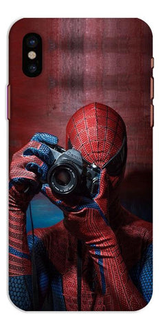 Digiprints Spider-Man a Good Photographer Designe Printed Designer Back Case Cover For Apple iPhone X
