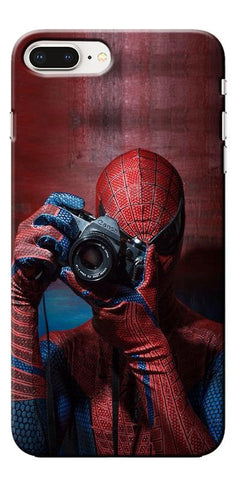 Digiprints Spider-Man a Good Photographer Designe Printed Designer Back Case Cover For Apple iPhone 8 Plus