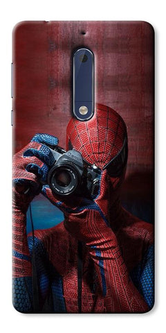 Digiprints Spider-Man a Good Photographer Designe Printed Designer Back Case Cover For Nokia 5