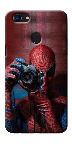 Digiprints Spider-Man a Good Photographer Designe Printed Designer Back Case Cover For Oppo F5