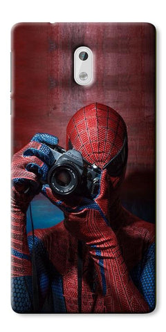 Digiprints Spider-Man a Good Photographer Designe Printed Designer Back Case Cover For Nokia 3