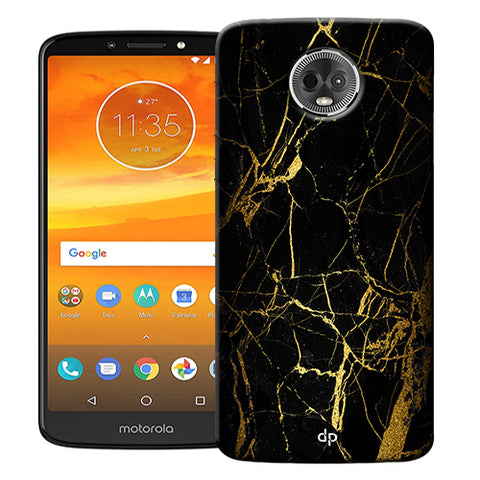 Digiprints Black Marble Design 1 Printed Designer Back Case Cover For Motorola Moto E5 Plus