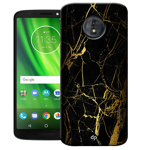Digiprints Black Marble Design 1 Printed Designer Back Case Cover For Motorola Moto G6 Play