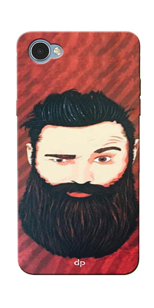 Digiprints Beard Man Printed Design Back Case Cover For LG Q6