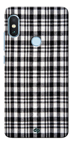 Black Checks Printed Designer Back Case Cover For Xiaomi Redmi Note 5 Pro