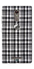 Digiprints Black Checks Printed Designer Back Case Cover For Gionee S6s