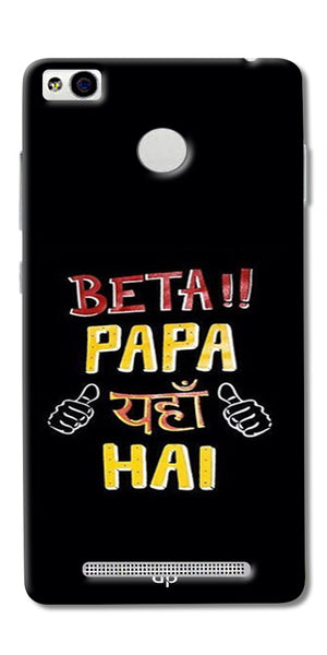 Digiprints Beta Papa Yaha Hai Printed Designer Back Case Cover For Xiaomi Redmi 3S Prime