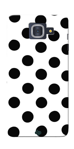 Digiprints Black Polka Dots Printed Back Case Cover For Samsung Galaxy J7 Max