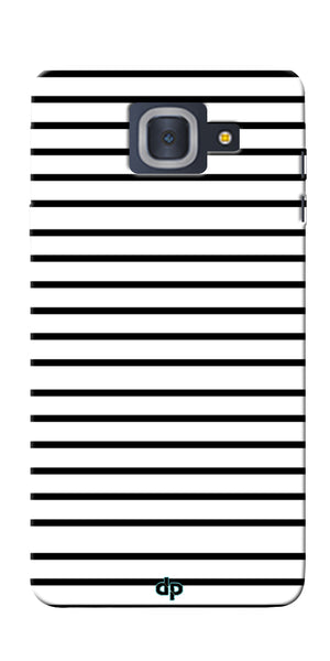Digiprints Black Horizontal Strips Designer Printed Back Case Cover For Samsung Galaxy J7 Max