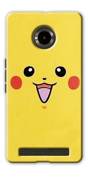 Digiprints Pikachu Pokemon Back Case Cover For Yu Yuphoria