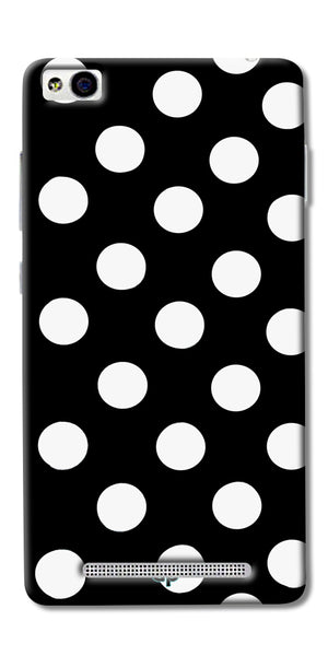 Digiprints White Polka Dots Printed Back Case Cover For Xiaomi Redmi 3S